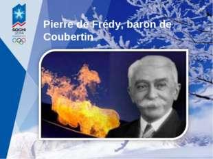 Pierre de Frédy, baron de Coubertin