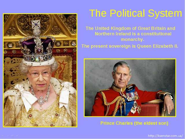 The Political System The United Kingdom of Great Britain and Northern Ireland...