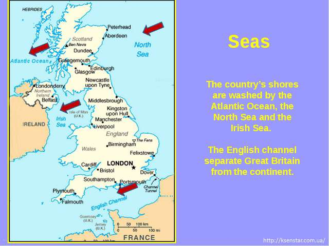 The country's shores are washed by the Atlantic Ocean, the North Sea and the...
