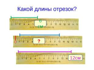 Какой длины отрезок? 6 см 12см ?
