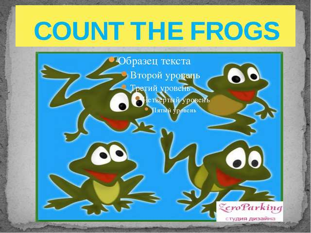 COUNT THE FROGS