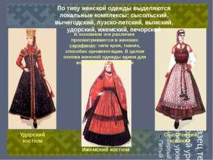 Удорский костюм Ижемский костюм Сысольский костюм Удорский костюм Ижемский