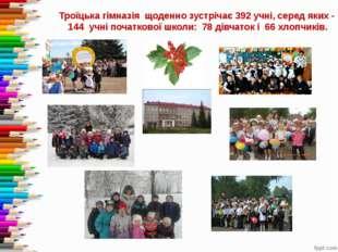 Троїцька гімназія щоденно зустрічає 392 учні, серед яких - 144 учні початков