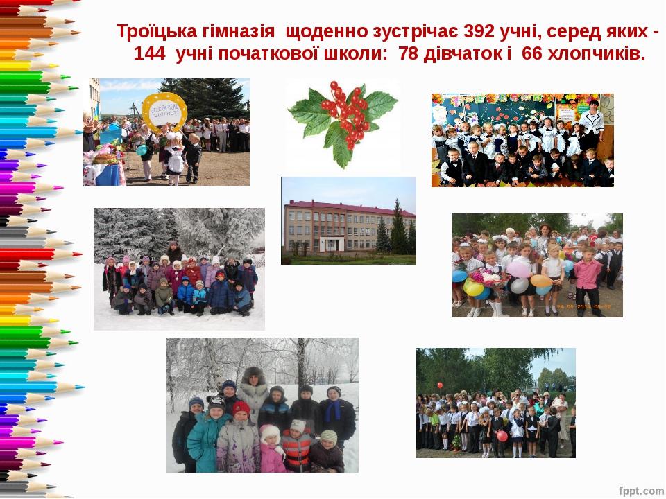 Троїцька гімназія щоденно зустрічає 392 учні, серед яких - 144 учні початков...