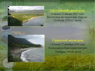 Баргузинский заповедник. Основан 11 января 1917 года. Расположен на территори