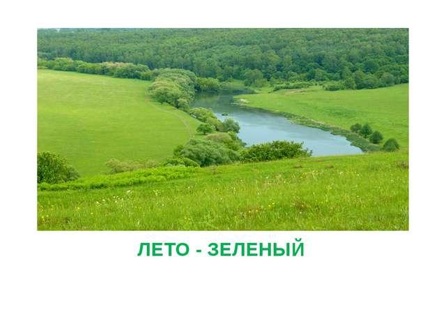 ЛЕТО - ЗЕЛЕНЫЙ