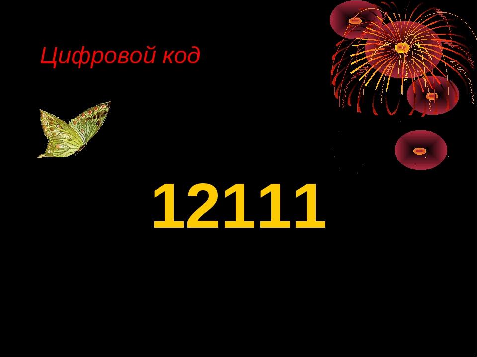 Цифровой код 12111