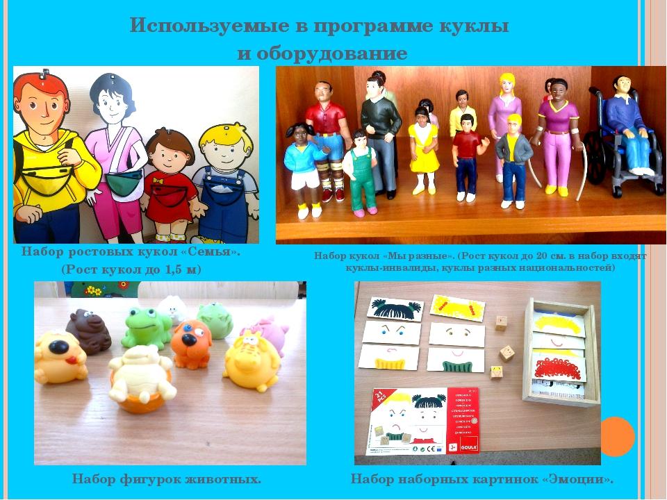 Используемые в программе куклы и оборудование Набор ростовых кукол «Семья». (...