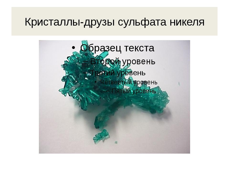 Кристаллы-друзы сульфата никеля
