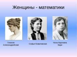 Женщины - математики Гипатия Александрийская Софья Ковалевская Нина Карловна