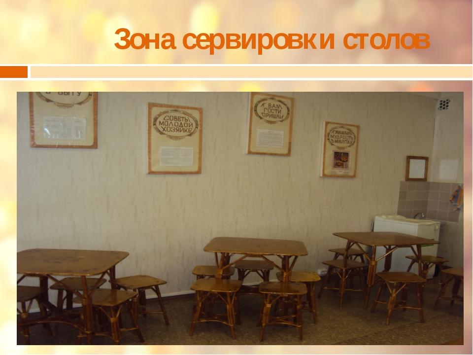 Зона сервировки столов