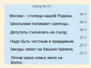 Москва – столица нашей Родины. Депутаты съехались на съезд. Надо быть честным