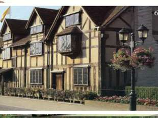 Stratford - on - Avon Shakespeare's birth place. There is great conjecture a
