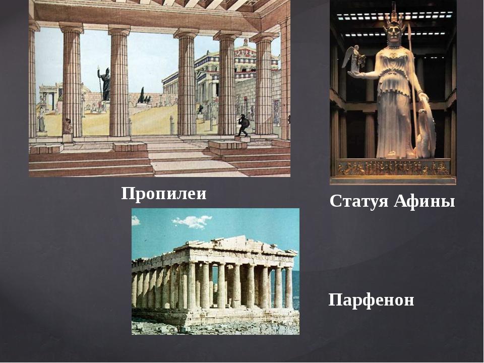 Пропилеи Статуя Афины Парфенон