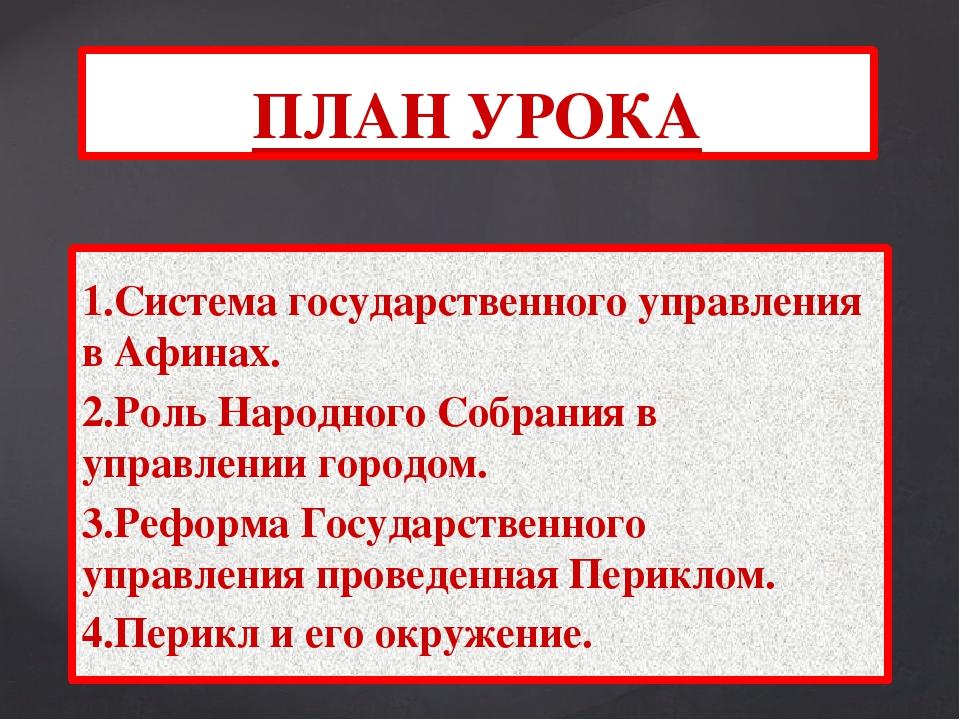 1.Система государственного управления в Афинах. 2.Роль Народного Собрания в у...