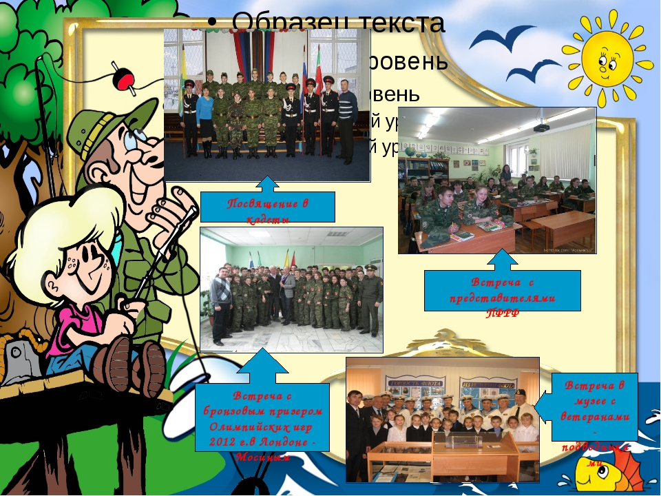 Посвящение в кадеты Встреча в музее с ветеранами-подводниками Встреча с брон...