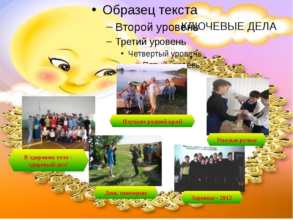 КЛЮЧЕВЫЕ ДЕЛА В здоровом теле – здоровый дух! Изучаем родной край Зарница - 2...