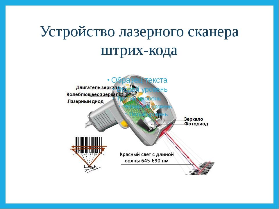 Устройство лазерного сканера штрих-кода