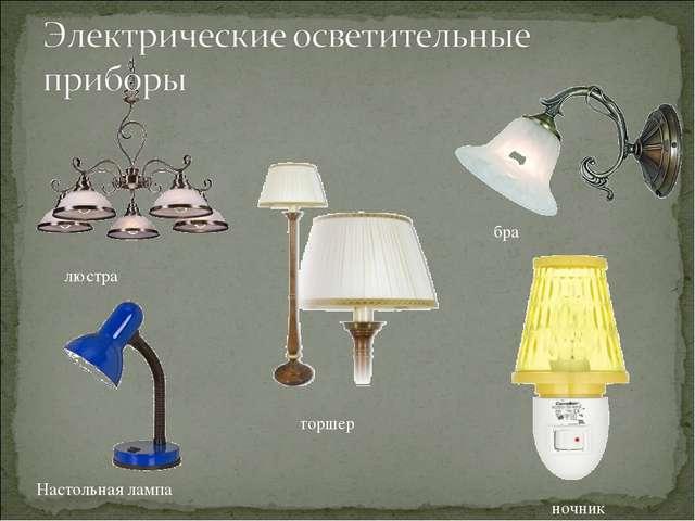 люстра бра торшер Настольная лампа ночник
