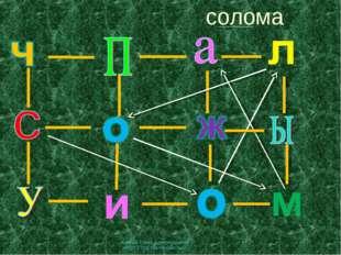 солома   * Курмаш Елена Александровна МКОУ СОШ №5 Михайловск