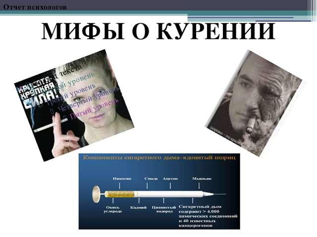 Отчет психологов МИФЫ О КУРЕНИИ