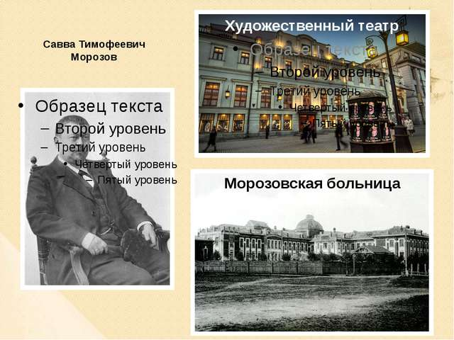 Савва Тимофеевич Морозов Художественный театр Морозовская больница