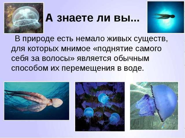 А знаете ли вы... В природе есть немало живых существ, для которых мнимое «по...