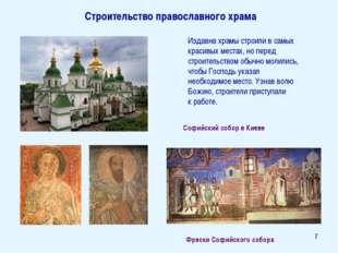 * Издавна храмы строили в самых красивых местах, но перед строительством обыч