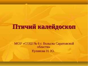 Птичий калейдоскоп МОУ «СОШ № 6 г. Вольска Саратовской области» Куликова Н. Ю.