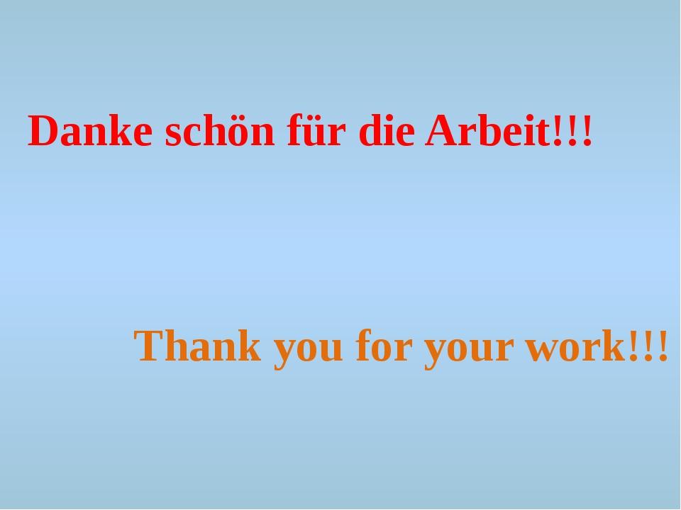 Danke schön für die Arbeit!!! Thank you for your work!!!