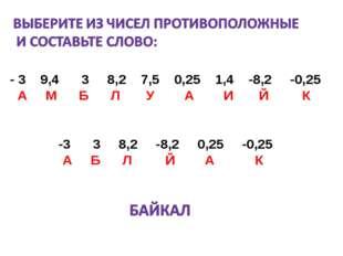 - 3 9,4 3 8,2 7,5 0,25 1,4 -8,2 -0,25 А М Б Л У А И Й К -3 3 8,2 -8,2 0,25 -0