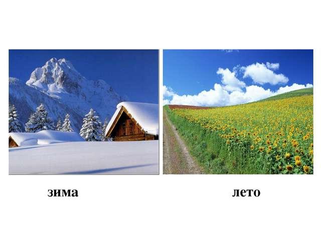 лето зима