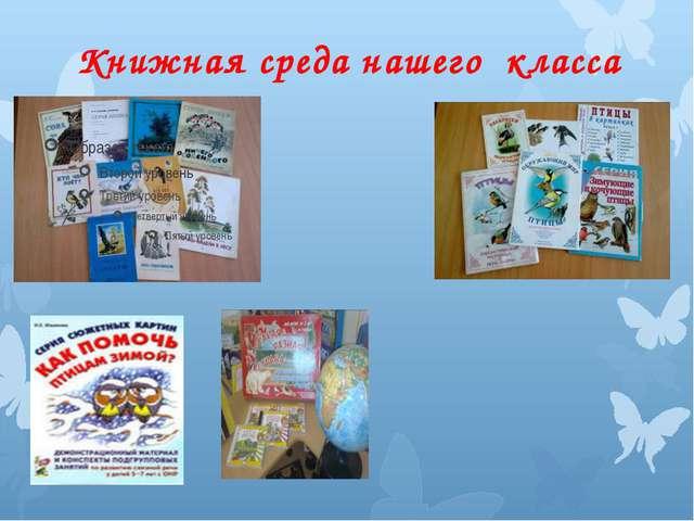Книжная среда нашего класса