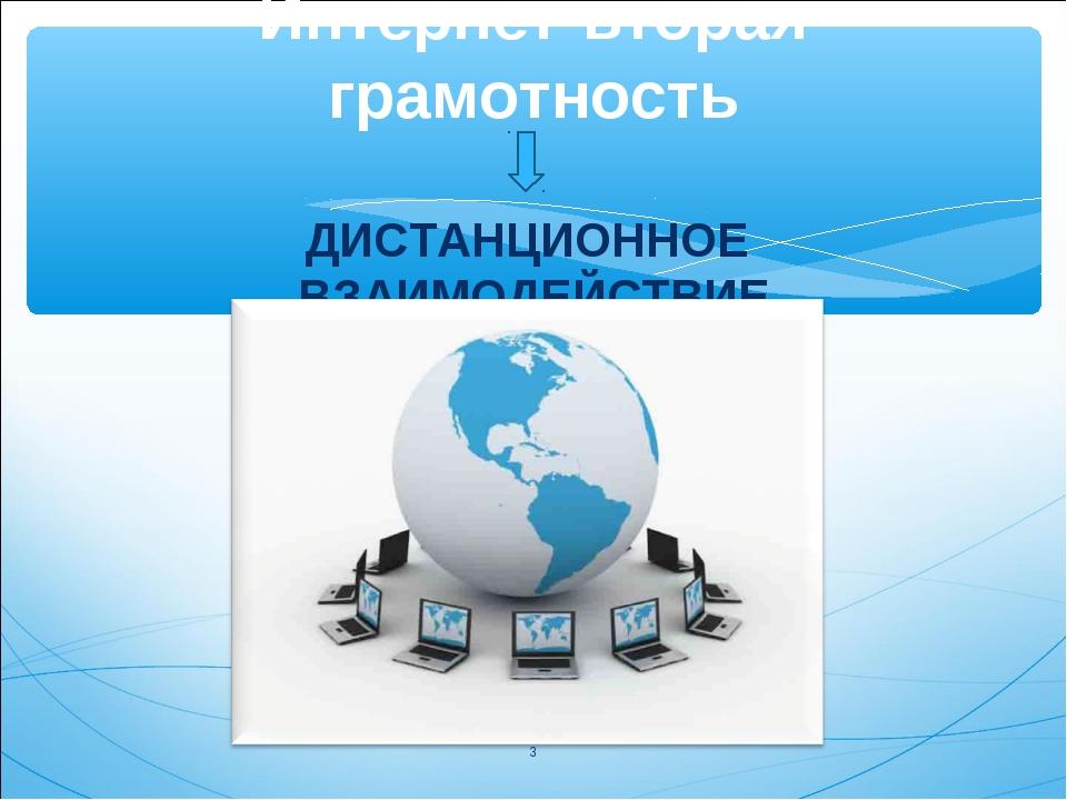 Интернет-вторая грамотность ДИСТАНЦИОННОЕ ВЗАИМОДЕЙСТВИЕ *