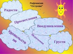 """Рефлексия """"Острова"""" Радости Просветления Недоумения Грусти Удовольствия Вооду"""