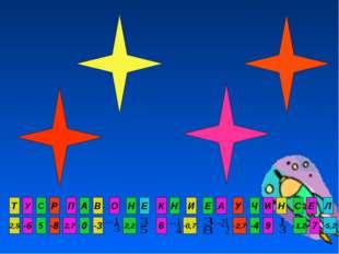 Т -6 5 -8 2,7 0 -5,2 7 -1,2 9 -4 -2,7 -0,7 6 2,2 -3 2,5 У С Р П А Л Е С Н И Ч