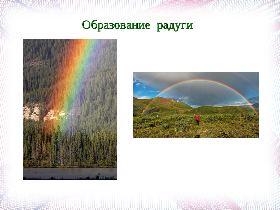 Образование радуги