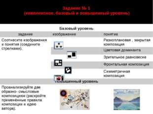 Задание № 1 (комплексное, базовый и повышенный уровень) автор: Старцева Марин