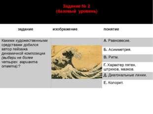 Задание № 2 (базовый уровень) автор: Старцева Марина Сергеевна задание изобра