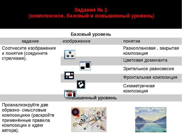 Задание № 1 (комплексное, базовый и повышенный уровень) автор: Старцева Марин...