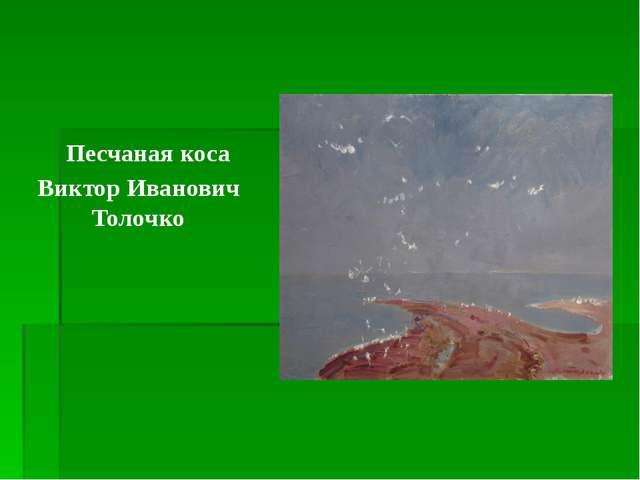 Песчаная коса Виктор Иванович Толочко
