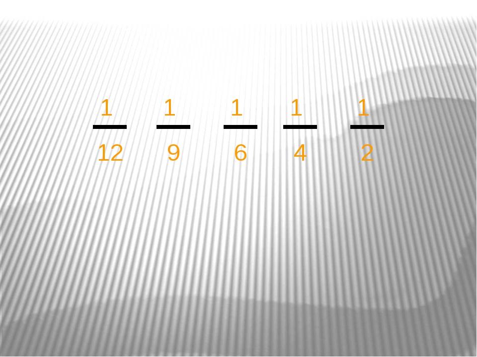 1 12 1 9 1 6 1 4 1 2