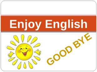 GOOD BYE Enjoy English