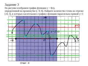 Задание 3 На рисунке изображен график функции y = f(x), определенной на проме