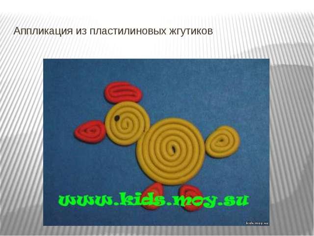 Аппликация из пластилиновых жгутиков аппликация из пластилиновых жгутиков.П...