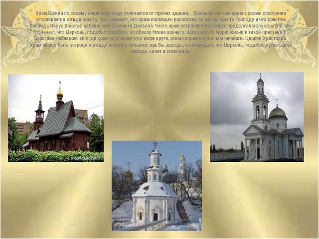 Храм Божий по своему внешнему виду отличается от прочих зданий. Большей часть...