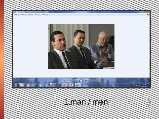 1.man / men