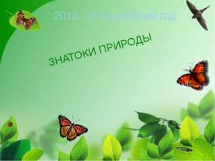 ЗНАТОКИ ПРИРОДЫ 2013 - 2014 учебный год