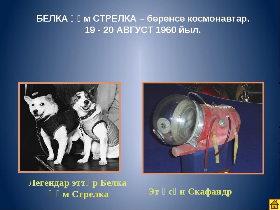 1961 йылдың 12 апрелендә Ер ОРБИТАһына беренсе космик КОРАБЛЬ «ВОСТОК – 1» о...