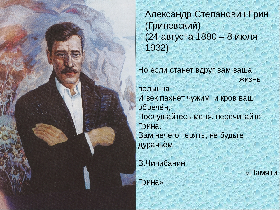 Александр Степанович Грин (Гриневский) (24 августа 1880 – 8 июля 1932) Но есл...